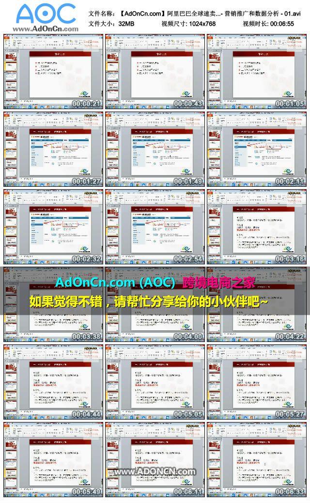 【AdOnCn.com】阿里巴巴全球速卖通培训教程 - 营销推广和数据分析 - 01.avi_thumbs_2016.01.23.20_09_31