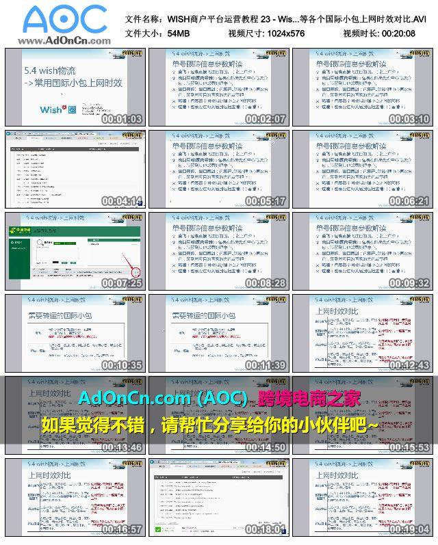 WISH商户平台运营教程 23 - Wish商户物流 中国邮政小包、E邮宝、荷兰小包、香港小包等各个国际小包上网时效对比.AVI_thumbs_2016.01.31.16_42_53