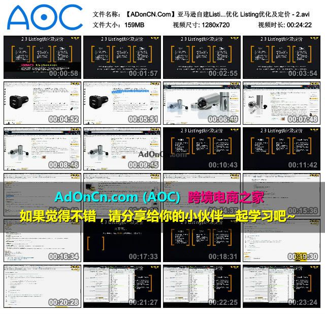 【ADonCN.Com】亚马逊自建Listing运营课程 18 产品上架及优化 Listing优化及定价 - 2.avi_thumbs_2016.02.18.19_37_08