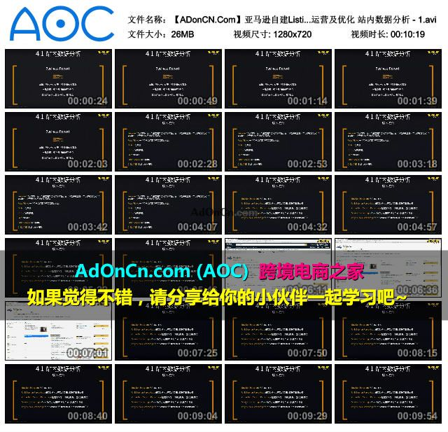 【ADonCN.Com】亚马逊自建Listing运营课程 35 账号运营及优化 站内数据分析 - 1.avi_thumbs_2016.02.18.19_39_14