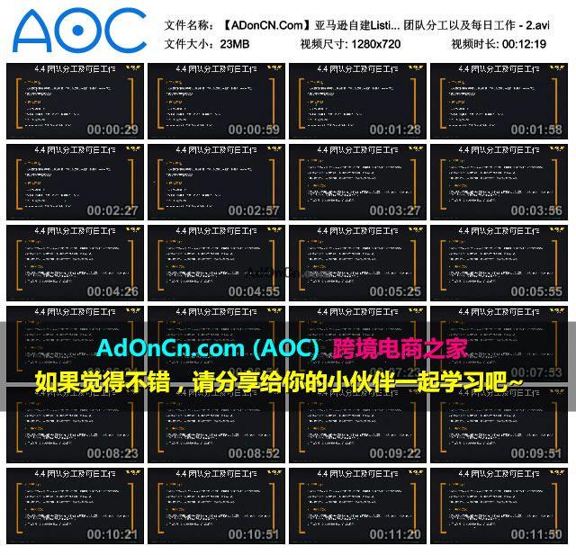 【ADonCN.Com】亚马逊自建Listing运营课程 44 账号运营及优化 团队分工以及每日工作 2.avi thumbs 2016.02.18.19 40 24 - 亚马逊自建Listing运营课程 44 账号运营及优化 团队分工以及每日工作 - 2