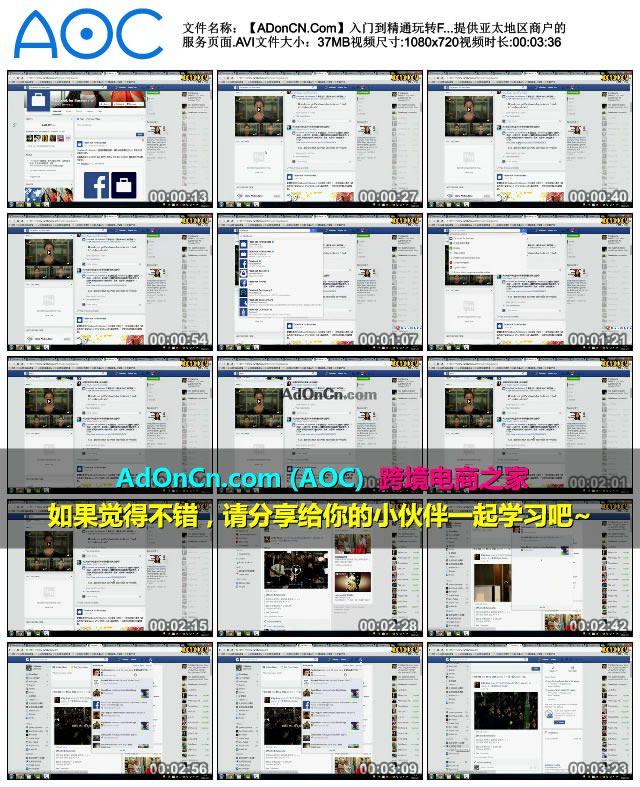 入门到精通玩转Facebook教程 11 Facebook提供亚太地区商户的服务页面
