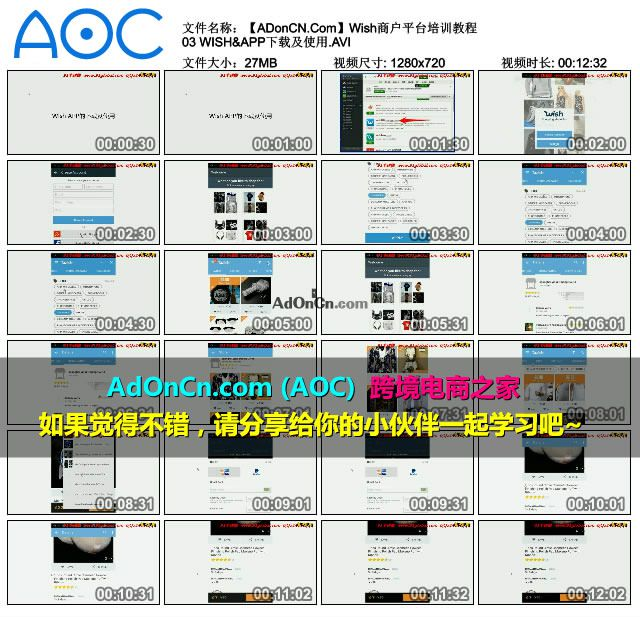Wish商户平台培训教程 03 WISH&APP下载及使用