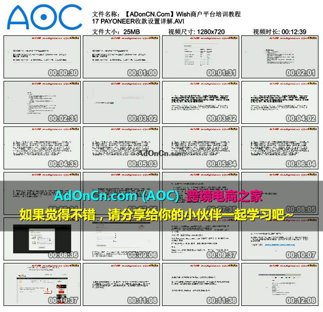 Wish商户平台培训教程 17 PAYONEER收款设置详解