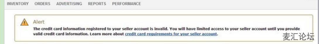 亚马逊卖家账号注册时信用卡无效怎么办