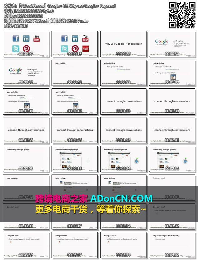 【ADonCN.com】Google 03. Why use Google Pages.avi - Google Plus (Google +)营销推广培训视频教程