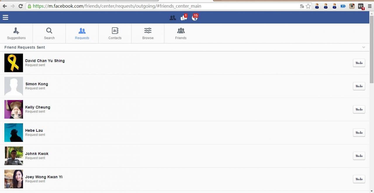 如何批量的取消Facebook的好友请求和发送好友请求