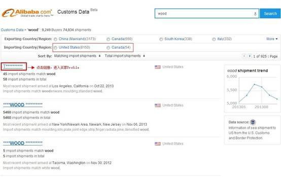 [海关数据]阿里国际站:买家海关数据的查看规则