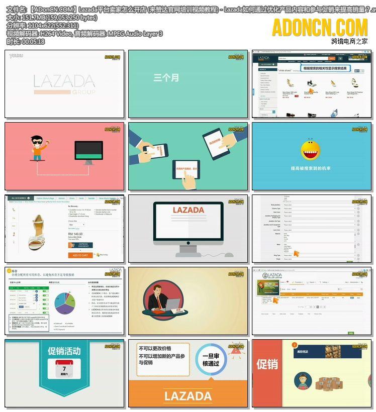 【ADonCN.COM】Lazada平台卖家怎么开店 (来赞达官网培训视频教程) - Lazada如何通过优化产品内容和参与促销来提高销量?.avi