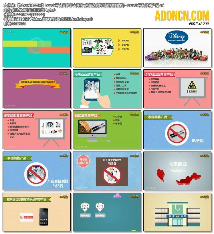 【ADonCN.COM】Lazada平台卖家怎么开店 (来赞达官网培训视频教程) - Lazada平台禁售产品.avi