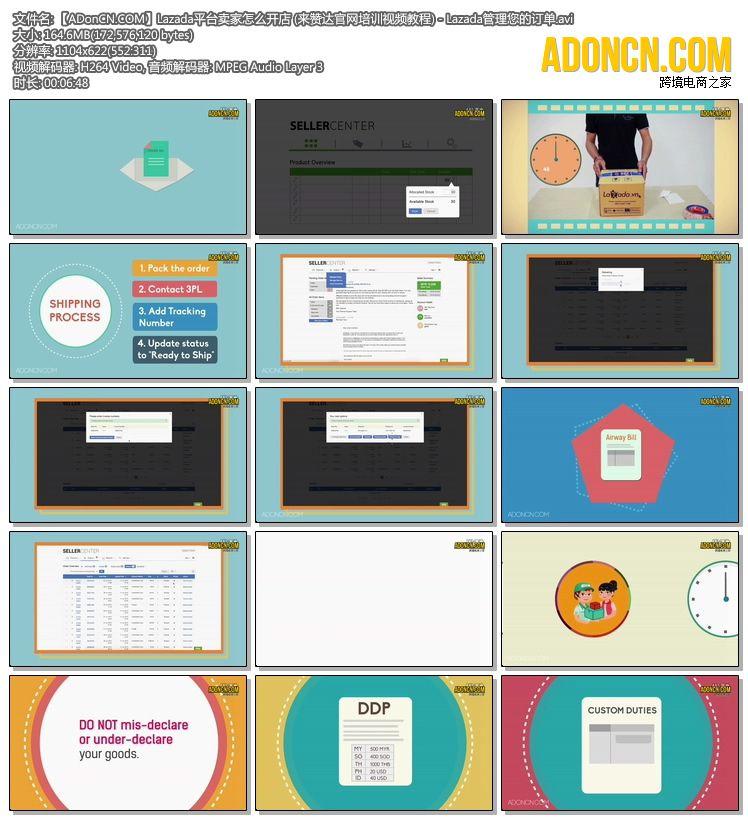 【ADonCN.COM】Lazada平台卖家怎么开店 (来赞达官网培训视频教程) - Lazada管理您的订单.avi