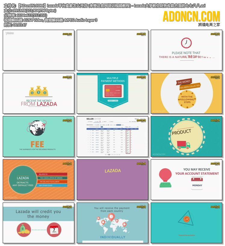 【ADonCN.COM】Lazada平台卖家怎么开店 (来赞达官网培训视频教程) - Lazada大学教你财务收款方面的七七八八.avi