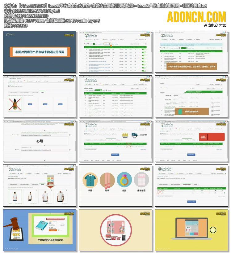 【ADonCN.COM】Lazada平台卖家怎么开店 (来赞达官网培训视频教程) - Lazada产品审核被拒原因 - 非图片因素.avi