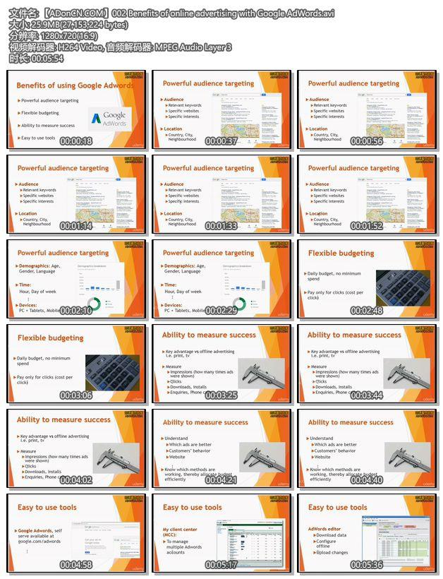 【ADonCN.COM】002 Benefits of online advertising with Google AdWords.avi