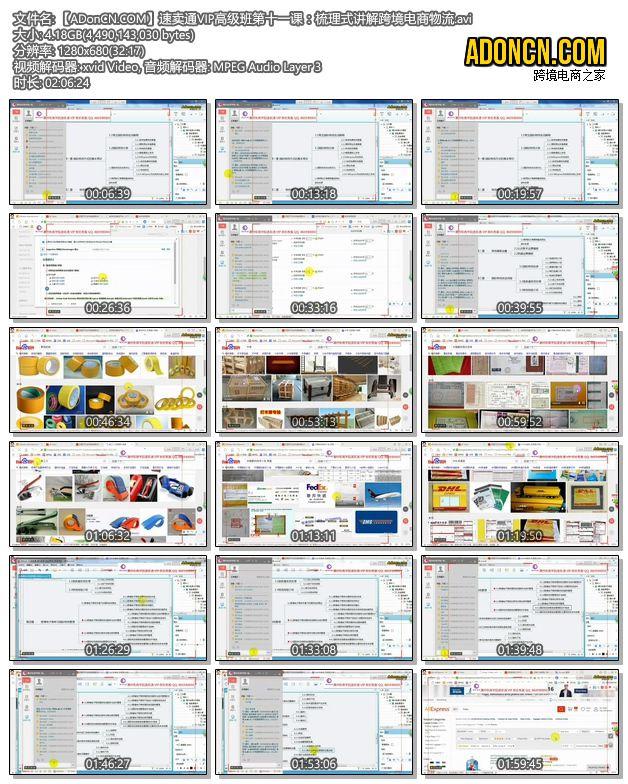 【ADonCN.COM】速卖通VIP高级班第十一课:梳理式讲解跨境电商物流.avi