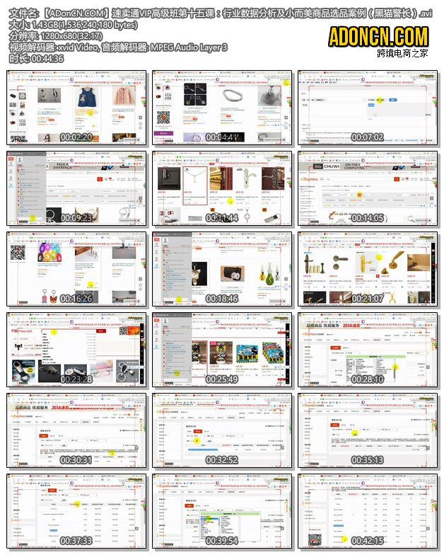 速卖通培训VIP高级班第十五课:行业数据分析及小而美商品选品案例(黑猫警长)
