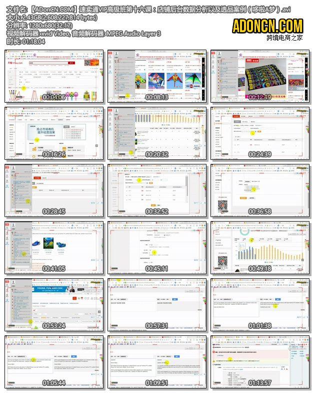 【ADonCN.COM】速卖通VIP高级班第十六课:店铺后台数据分析以及选品案例(哆啦A梦).avi