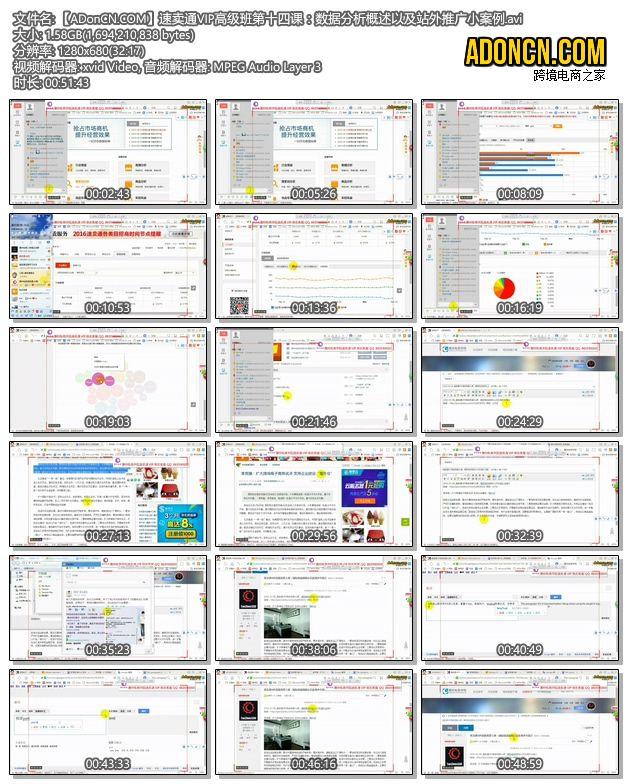 【ADonCN.COM】速卖通VIP高级班第十四课:数据分析概述以及站外推广小案例.avi