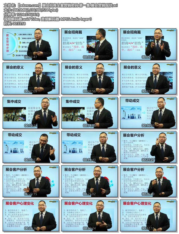 【adoncn.com】展会招商全套营销密码 第一集 展会营销现状.avi