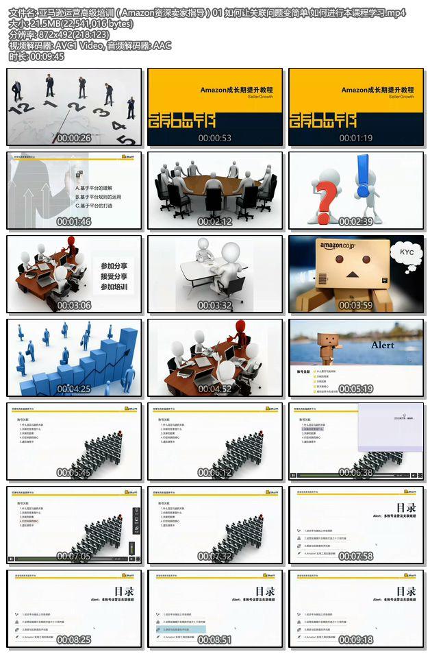 亚马逊运营高级培训(Amazon资深卖家指导)01 如何让关联问题变简单 如何进行本课程学习