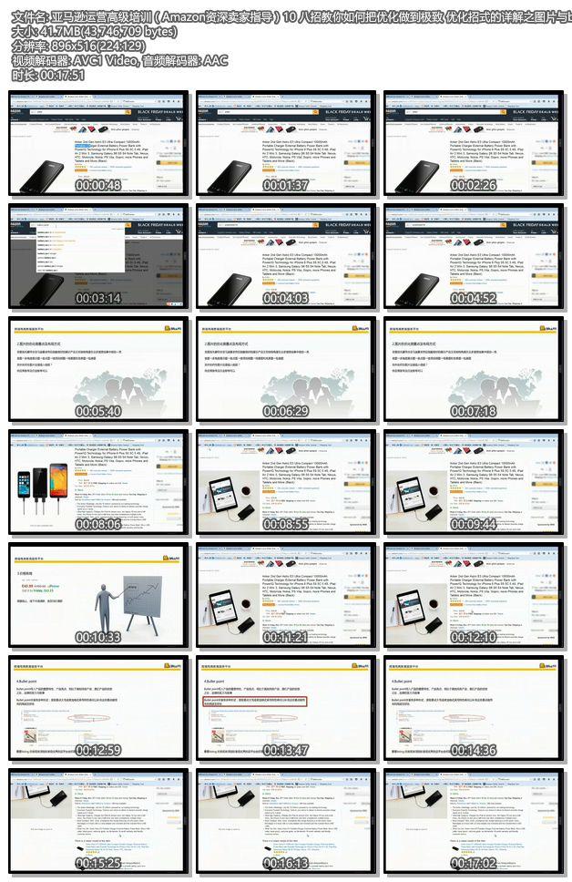亚马逊运营高级培训(Amazon资深卖家指导)10 八招教你如何把优化做到极致 优化招式的详解之图片与bullet point