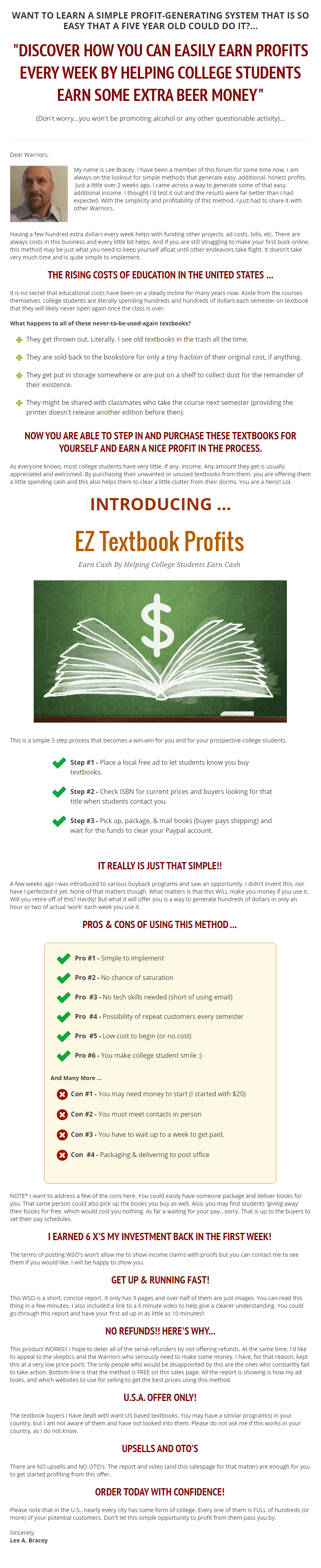 在90分钟的简单工作中,我是如何把$50刀变成$300刀的!(EZ Textbook Profits)