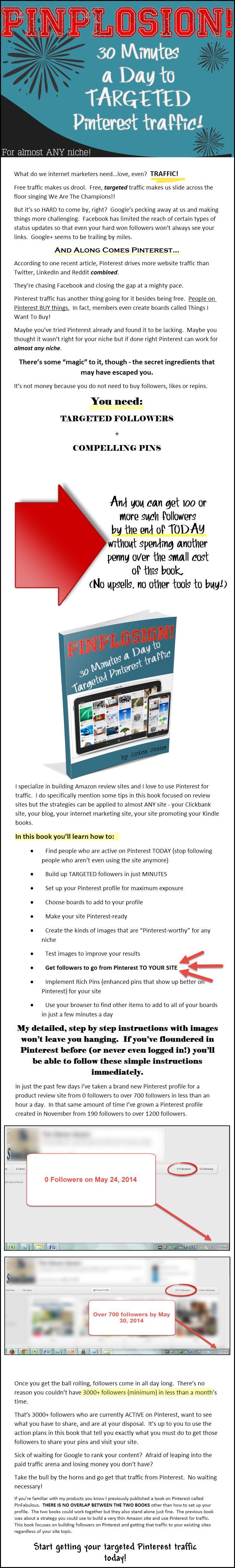 实操经验指导你如何每天半小时从Pinterest获取流量导向任何利基市场(PinPlosion)