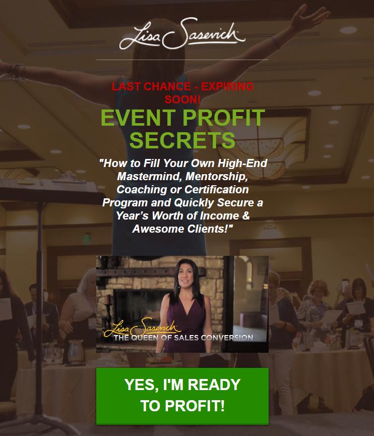 我想把我的秘密告诉你,获取几万,几十万,几百万的获益,同时让你有所作为。(Event Profit Secrets)