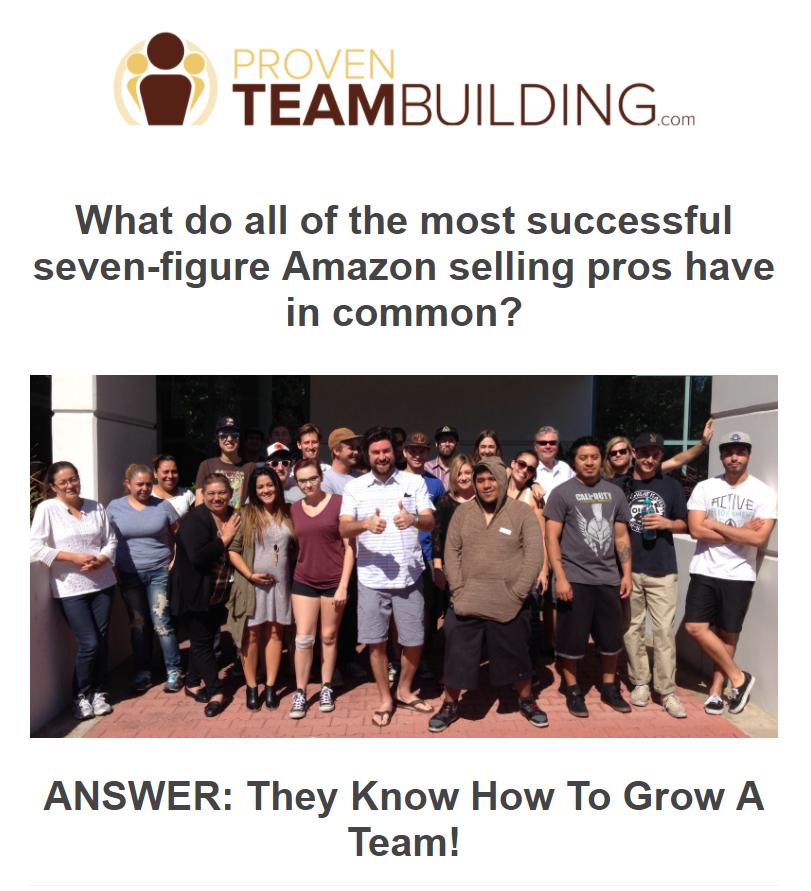 最成功的7位亚马逊销售专业人士有何共同之处?(Proven Team Building)