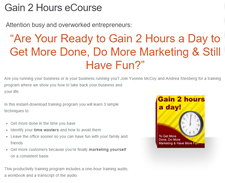 Are Your Ready to Gain 2 Hours a Day to Get More Done, Do More Marketing & Still Have Fun?(Gain 2 Hours a Day)
