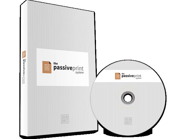 如何在30天或更少的时间内建立获益1000美元/月的业务(The Passive Print System)