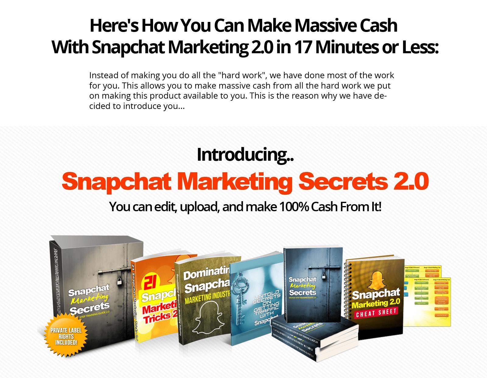 """""""阅后即焚""""照片分享应用Snapchat(色拉布)市场营销推广的秘密(Snapchat Marketing Secrets)"""