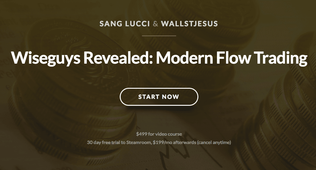 Understanding flow and the various participants in the market.(Wiseguys Revealed - Modern Flow Trading)