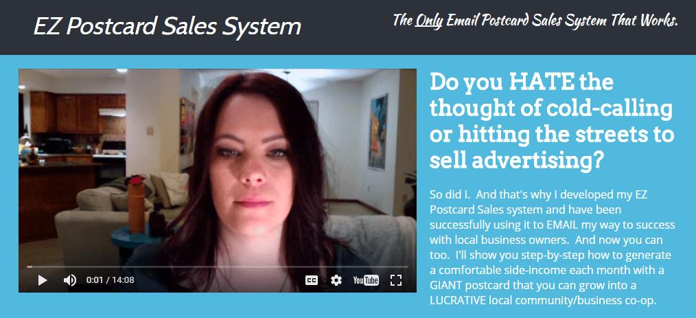 一步步地向你展示如何通过一个明信片项目来创造一个舒适的额外收入(EZ Postcard Sales System)