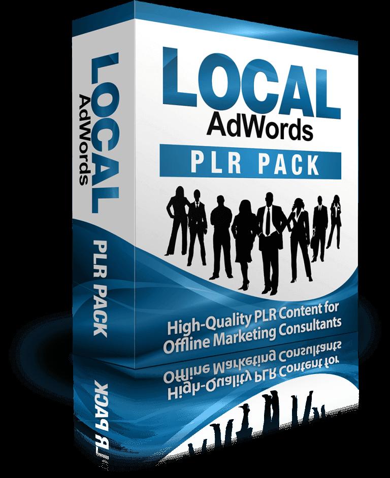 使用专业的谷歌AdWords PLR包将更多的线下业务转化为付费客户(Local AdWords PLR Pack)
