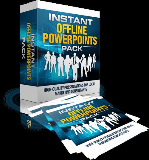 在与潜在客户会面时,可以随时准备演示文稿,以帮助你进行教育、动情和完成交易。(Instant Offline PowerPoints Pack)