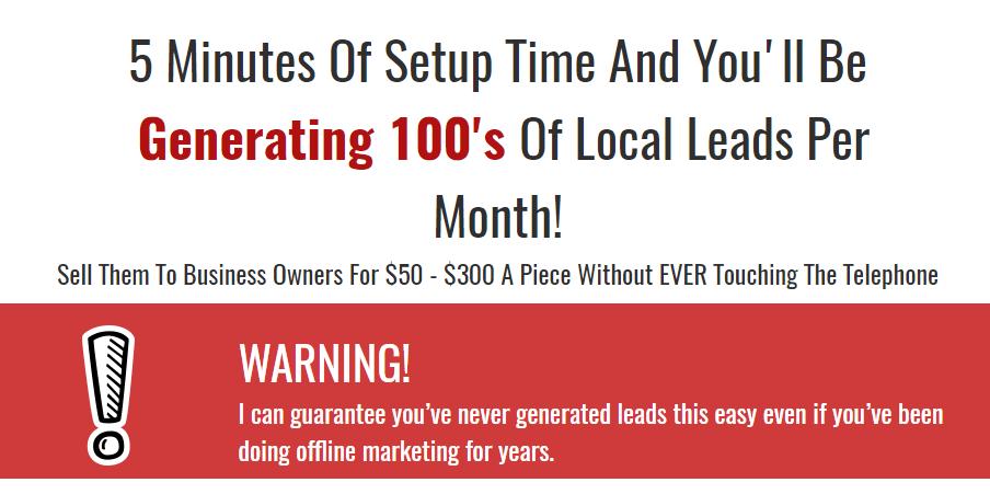 最简单、最容易、最有效的5分钟的设置时间你将会在每个月生成100个本地的leads!(Local Lead Arbitrage)
