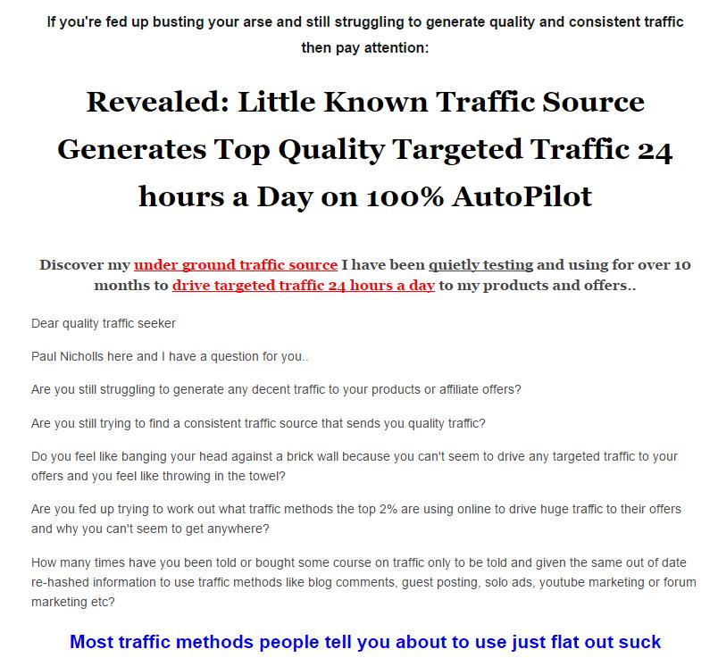 几乎没有人知道的流量来源,每天24小时自动运行,100%自动操作。(24 Hour Traffic Machine)