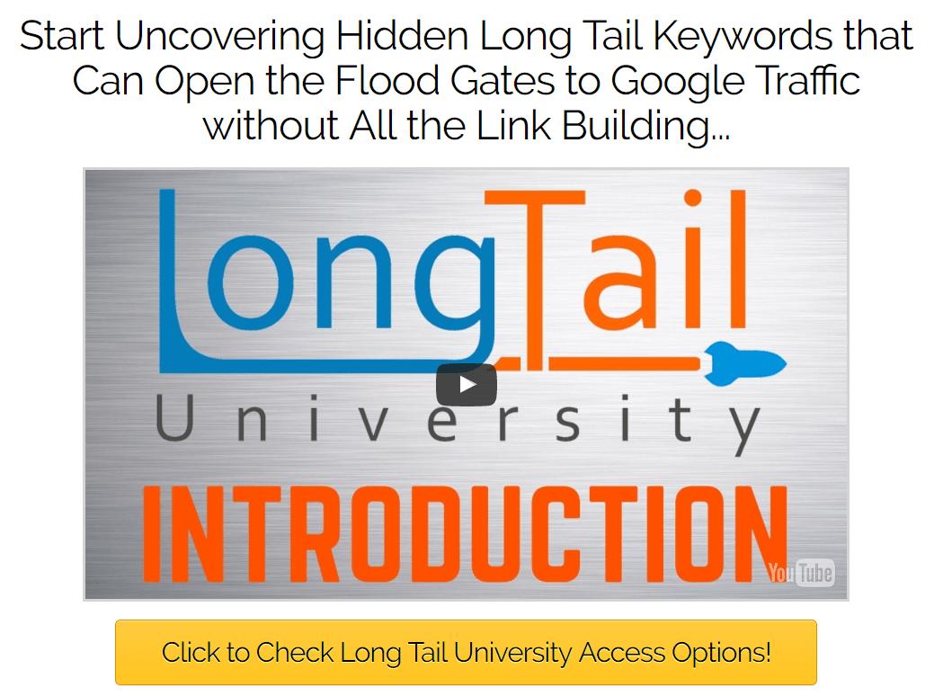 发现隐藏的长尾关键字 - 可以在没有任何外部链接的情况下打开Google流量的大门(Long Tail University)