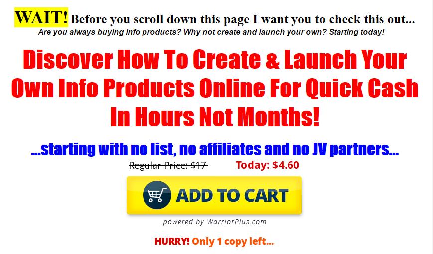 快速学会如何在网上创建和发布你自己的信息产品(Quick Cash Formula)