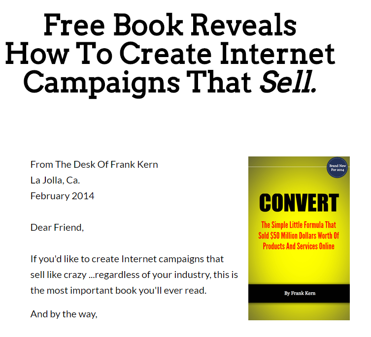 How To Create Internet Campaigns That Sell.(Frank Kern - Convert)