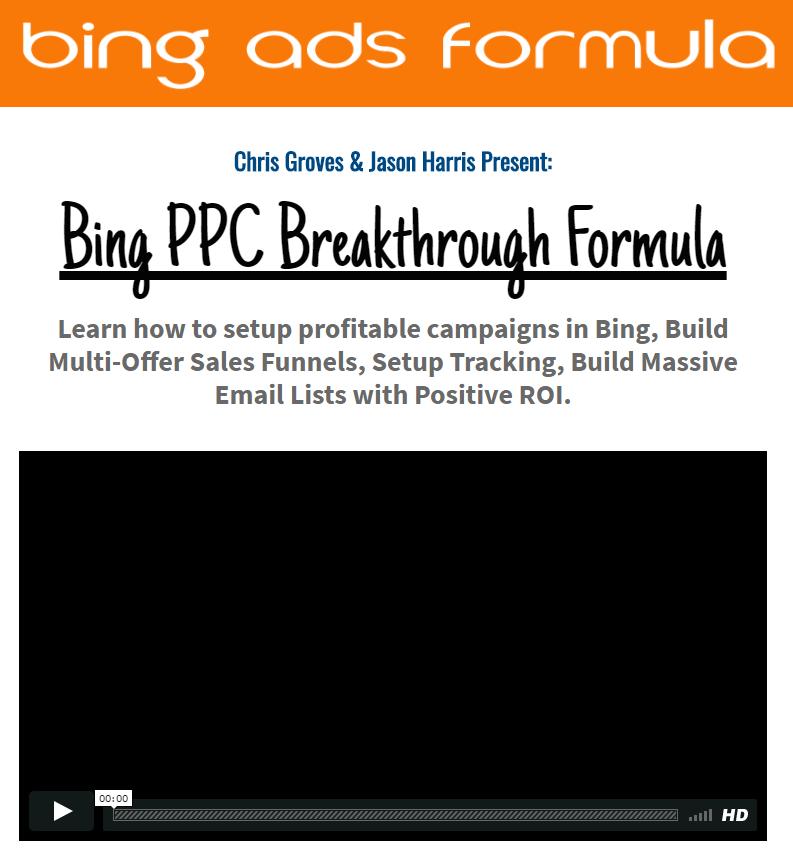学习如何在Bing ads中建立盈利的计划,建立更多销售的销售渠道,建立跟踪系统,收集大量的电子邮件列表,并获得积极的投资回报(Bing PPC Breakthrough Formula)