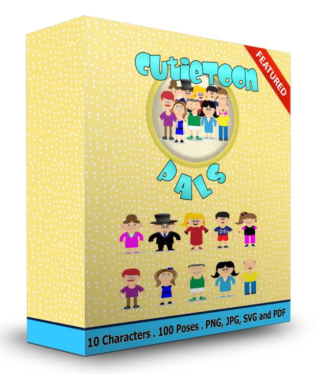独特的卡通人物素材将单调的营销材料变成吸引眼球的促销活动,从而增加你的销售额。(CutieToon Pals)