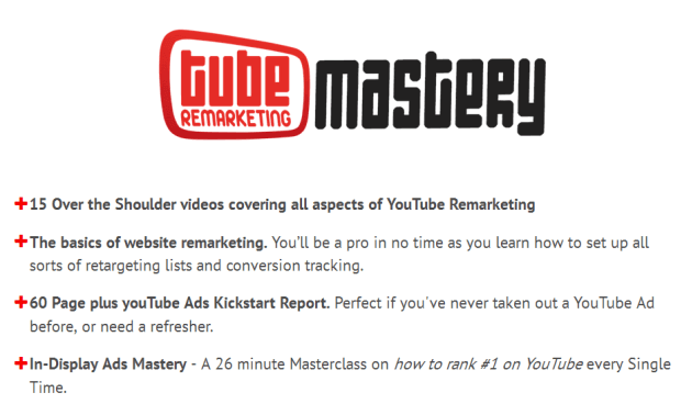 Tube Remarketing Mastery Review - 发现一种Youtube小方法 - 将全新的访问者转化为热情的顾客和火爆的买家(Tube Remarketing Mastery)