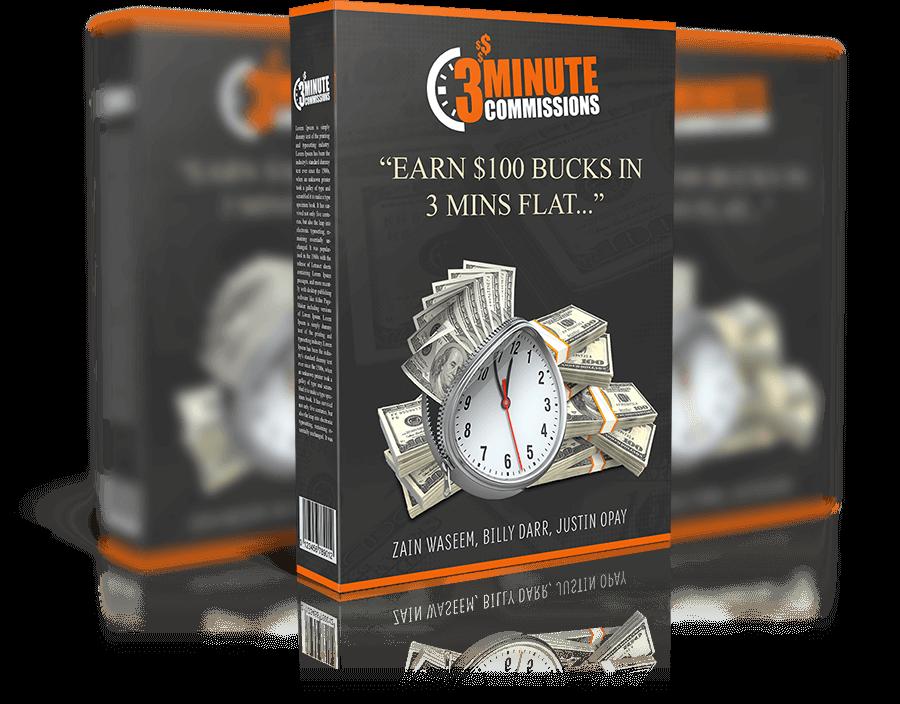 全新的方法+点几下鼠标 一个新手在3分钟内就可以获得0美元(3 Minute Commissions)