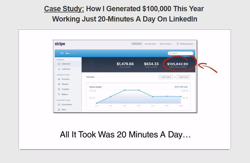 教您我是如何每天在Linkedin上工作20分钟而赚取$10万美元/年(The 20 Minute Work Day)