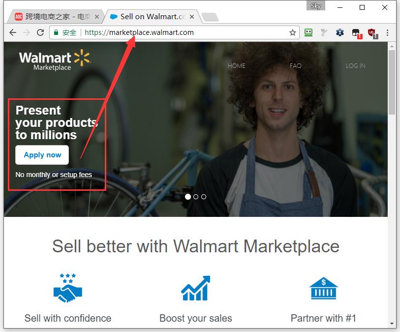 美国沃尔玛电商平台卖家开店入口(walmart)