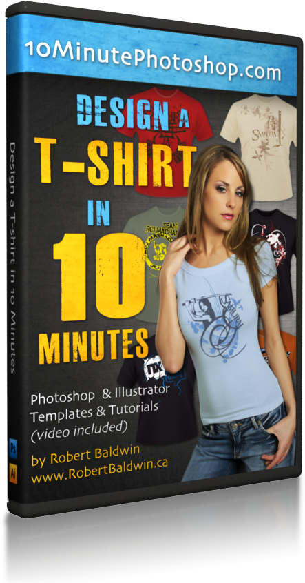 节省您的精力和宝贵的时间 - 按照我的秘方制作T恤而不用学习整个繁复的程序(Photoshop培训系列)(Design a T-Shirt in 10 Minutes)