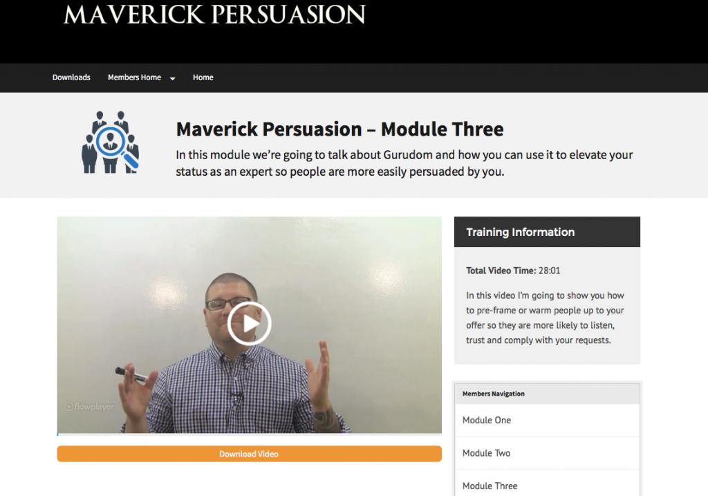 十部完整的视频培训课程教您人类已知的最有效的劝说技巧(Maverick Persuasion)