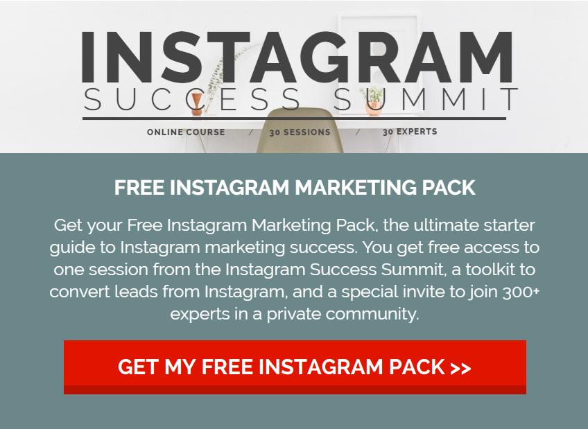 Instagram营销专家+经过验证的企业家+行业影响者领导的30场演讲嘉宾峰会记录(Instagram Success Summit)